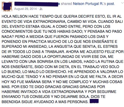 testimonio nelson portugal